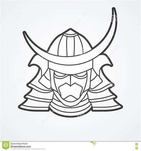 demon samurai mask coloring pages
