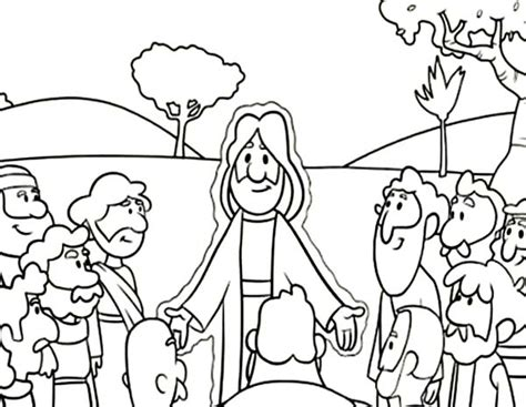 coloring page of jesus teaching free coloring pages of jesus and his disciples
