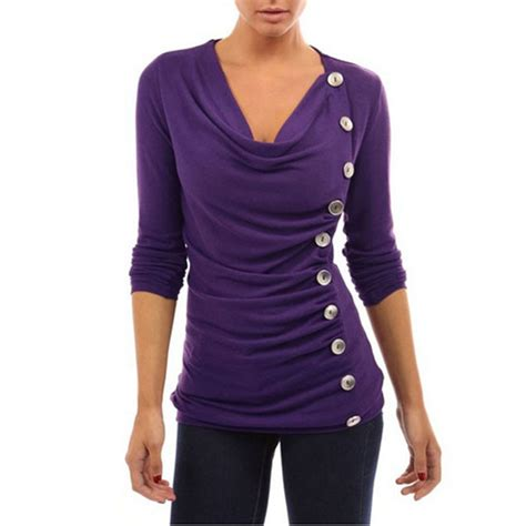 Sleeve Side Button Shirt aliexpress buy fashion autumn 2016 sale t
