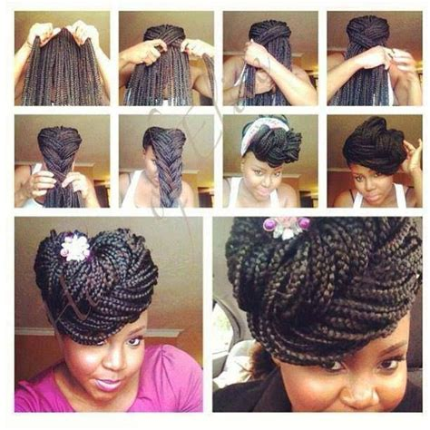 big cornrows updo styles box braids in an updo natural hair styles pinterest