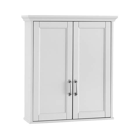 Wall Cabinets For Bathrooms Foremost Ashburn 23 1 2 In W X 27 In H X 8 In D Bathroom Storage Wall Cabinet In White