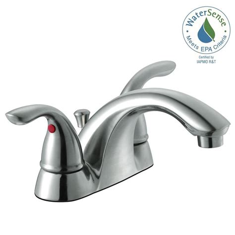 Glacier Bay Kitchen Faucet by Glacier Bay Builders 4 In Centerset 2 Handle Low Arc