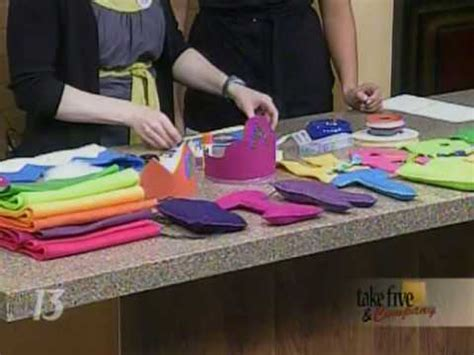 How To Make Birthday Decorations Out Of Paper - craftsanity on tv birthday favors