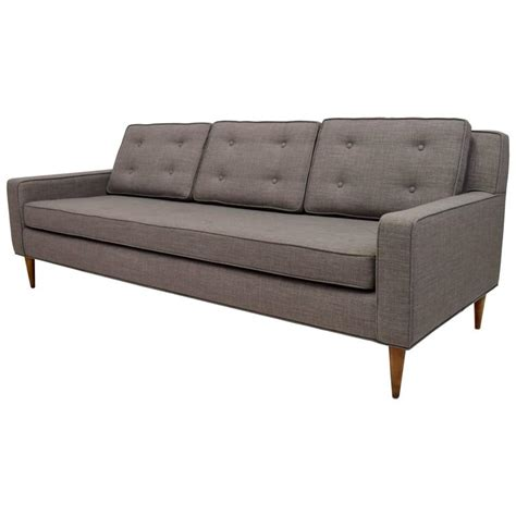 sofa paul mid century button tufted sofa in paul mccobb style for