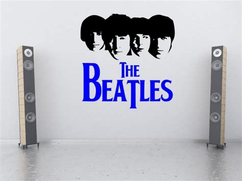 Transfer Stickers For Walls the beatles silhouette large vinyl decor wall stickers