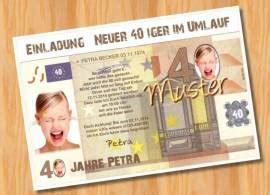 Muster Einladung Karte Einladungskarten Geburtstag