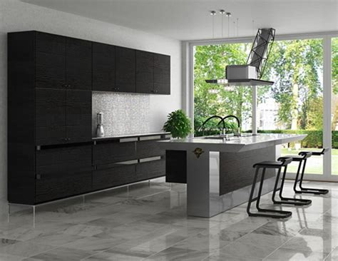 Black And Grey Kitchen Cabinets Black Grey Kitchen 2017 Grasscloth Wallpaper