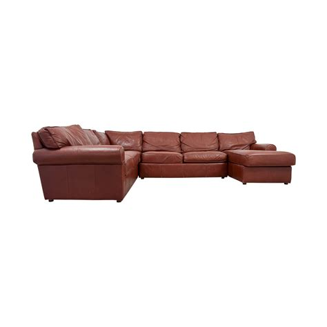 ethan allen sectional couch 80 off ethan allen ethan allen burgundy leather