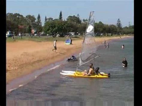 kayak sailboat sailing a switch kayak sailboat in australia youtube