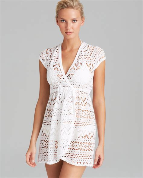 dress cover up robin piccone penelope sheer wrap dress swim cover up in
