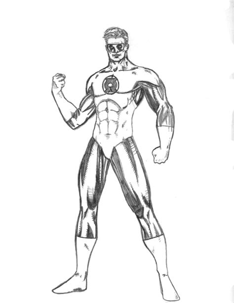 green lantern coloring pages getcoloringpagescom