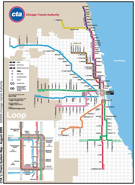 chicago map for chicago metro map subway mapsof net