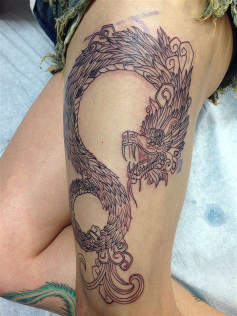 aztec serpent tattoo designs quetzalcoatl feathered serpent by juan lira ig