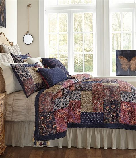 studio d bedding studio d lindsay tasseled patchwork cotton voile quilt