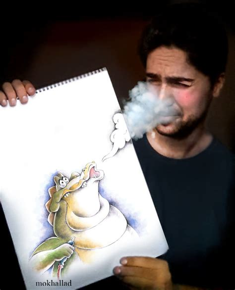 disegni combinati ad oggetti reali creano simpatiche scene