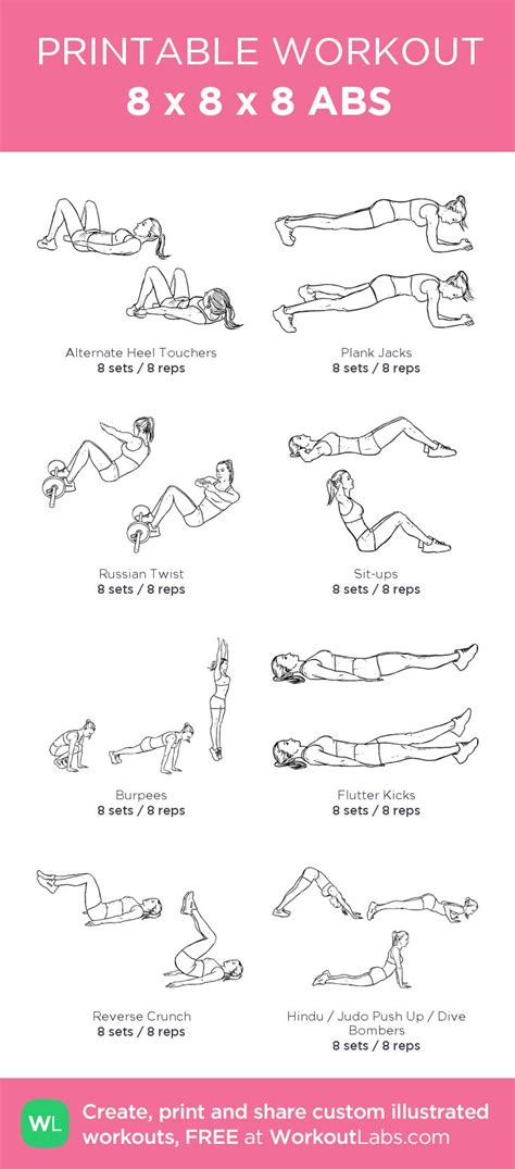 abs  custom printable workout  atworkoutlabs