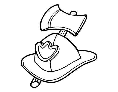 Firefighter Helmet Outline by Firefighter Helmet Coloring Pages