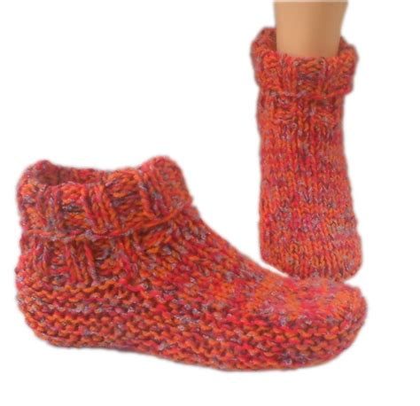 knitted slipper socks slipper pattern knit my patterns