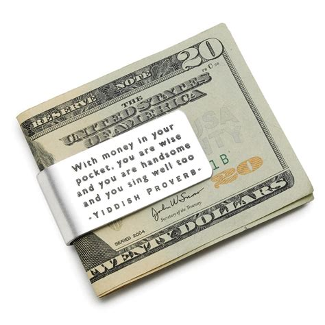 I No Money For Gifts - yiddish proverb money clip quote money clip