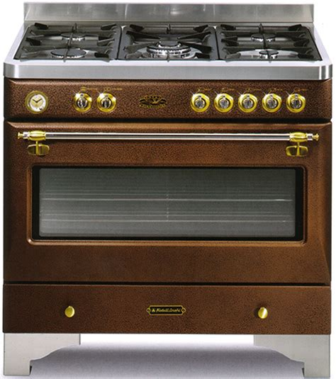 bronze colored appliances hammered steel and bronze ranges from fratelli onofri