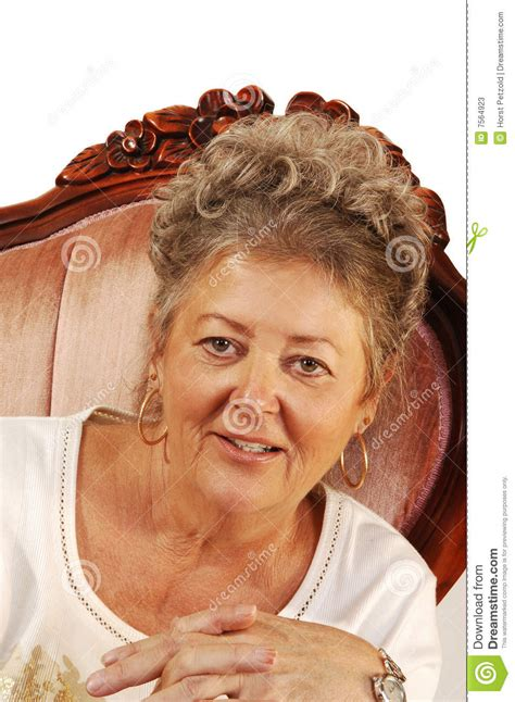 woman in armchair senior woman in armchair stock photos image 7564923