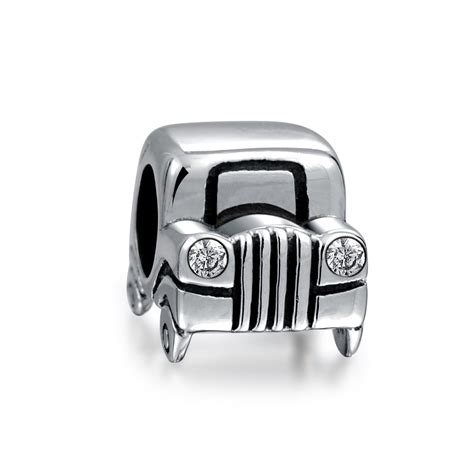 Pandora Car Charms P 1262 sterling silver jeep car bead cz headlights fits pandora charms