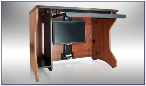 hidden computer monitor desk desk with hidden monitor lift download page home design