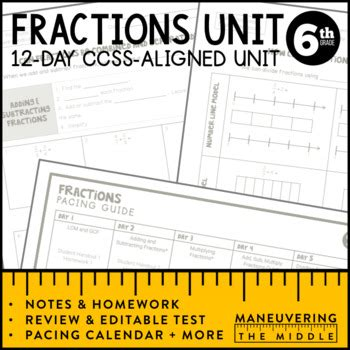 6 Ns 1 Worksheets by 6th Grade Fractions Unit 6 Ns 1 6 Ns 4 By Maneuvering