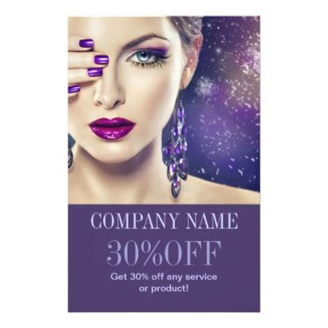 makeup artist flyers templates fashion purple nails salon makeup artist flyer flyers salons