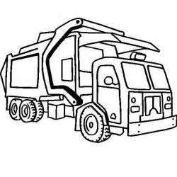 Compressing garbage truck on dump truck coloring page kids play