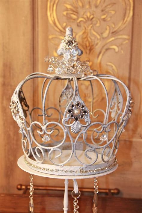 Crown Decorations embellished white metal crown decorative crown wedding decor cake