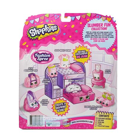 Shopkins Season 5 Fashion Spree 5 shopkin world shopkins slumber playset