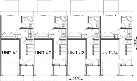multifamily plans 3 unit multi family house plans home deco plans