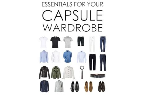 why you need a capsule wardrobe his style diary