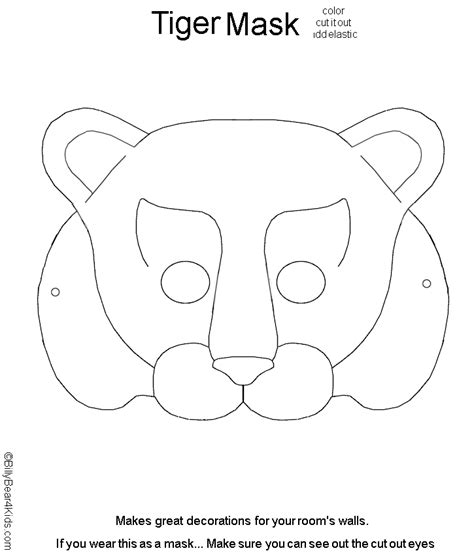 templates for animal masks free coloring pages of fox mask template