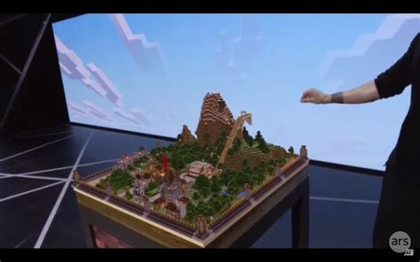 Vr Minecraft microsoft partners with valve vr and oculus shows minecraft for hololens ars technica