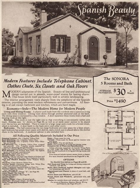 antique spanish house plans wardway kit houses 1930 sonora style stucco