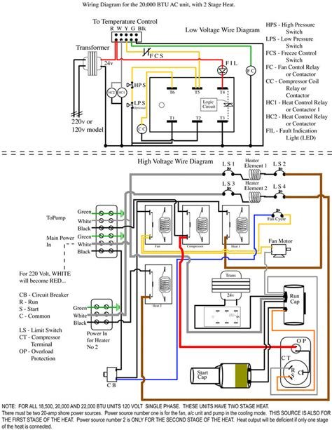 trane heat thermostat wiring diagram for two stage to