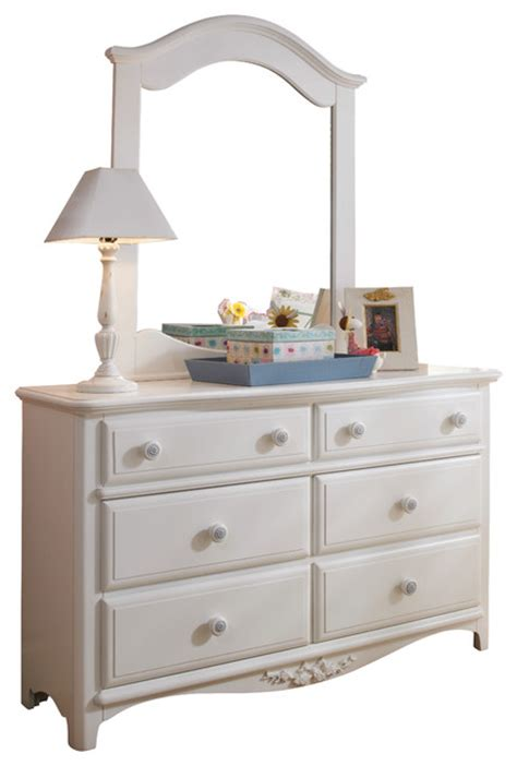 Armoire Dresser With Mirror Lea Drawer Dresser With Mirror In White