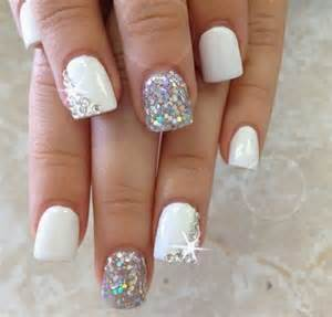 gallery for gt simple acrylic nail designs with rhinestones