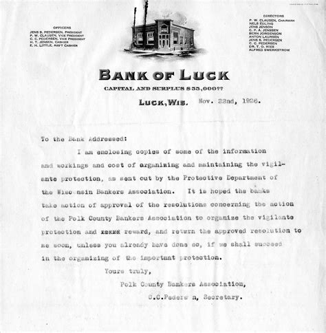 Bank Letter St Nhdarchives Licensed For Non Commercial Use Only Letters And Correspondence