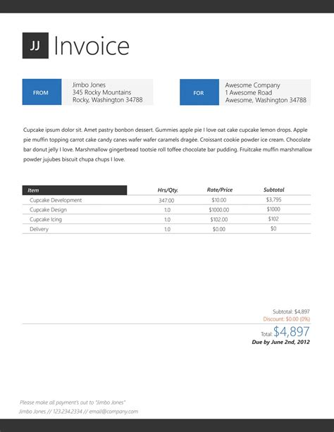 Invoice Designs Invoice Design Inspiration Cool Invoice Template Free