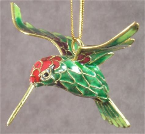 homemade hummingbird ornaments cloisonne hummingbird bird ornament set of 6 colors pink blue green gold ebay