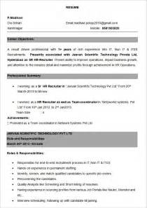 Bpo Resume Format by Experience On A Resume Template Learnhowtoloseweight Net