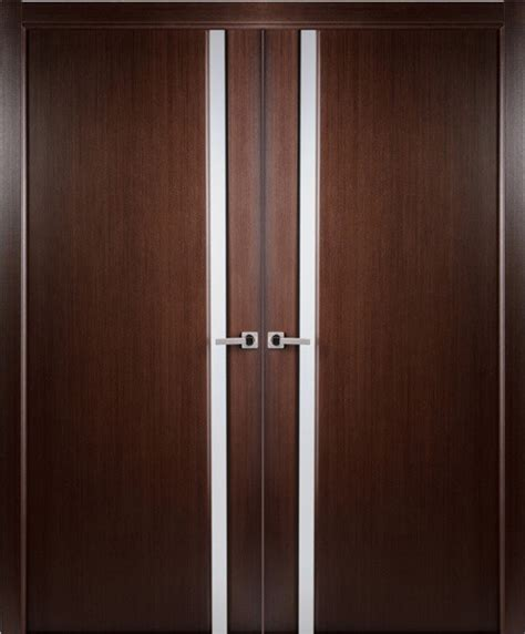 Frosted Glass Closet Doors Modern Contemporary Wenge Veneer Interior Door Frosted Glass Contemporary Interior