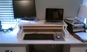 Desk Computer Mount Diy Diy Adjustable Desk For 25 Code Easy