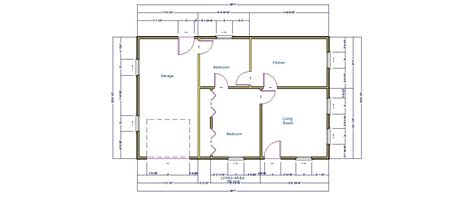 Simple Home Blueprints by Simple House With One Car Garage Pro Barn Plans
