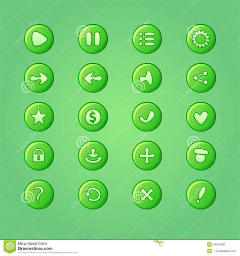 game design elements in vector from stock 9 25xeps set of mobile bright green vector elements for ui game