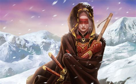 What Do Blind People Use Female Warrior Fantasy Fantasy Women Warrior Wallpaper