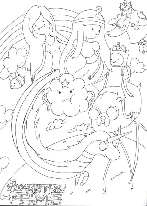 adventure time coloring pages all princesses wallpapers
